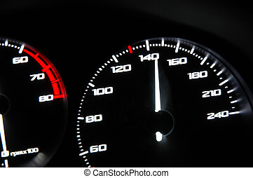 Speed  - Fast speed on speedometer
