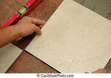 Installing  Floor Tiles - Installing Luxury Floor Tiles