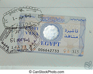 Visa - Egyptian visa in passport
