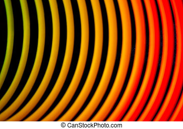 Coil - Isolated macro shoot multicoloured childs spring on a...