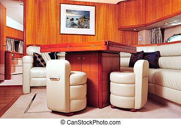 Luxury yacht interior - Interior picture of a luxury yacht