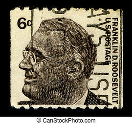 Postage stamp - USA-CIRCA 1966:A stamp printed in USA shows...