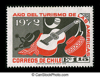 Postage stamp. - CHILE-CIRCA 1972:A stamp printed in CHILE...
