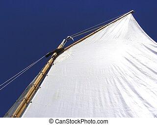 Sail - abstract sailing dinghy sail