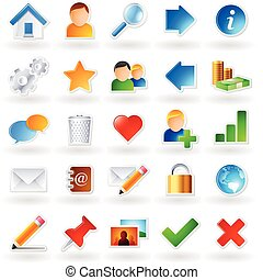 Colored icons - Set of 25 colored icons for websites and...