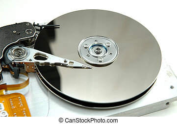 Hard drive with head- closeup