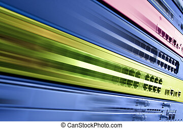 High speed internet - Blurred telecommunication equipment....