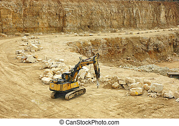 Rock crusher in quarry