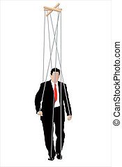 businessmen - marionette - Vector illustration of...