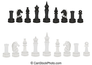 chess - Vector illustration of chess under the white...
