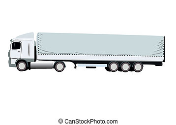 vector illustration of truck
