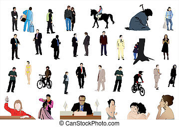 different people - Vector illustration of different people...
