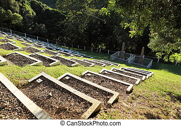 Boer war cemetery on St Helena - Over six thousand prisoners...