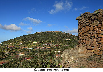 Half Tree Hollow on St Helena - View of Half Tree Hollow in...