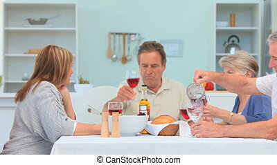 Dinner between mature friends - A lovely dinner between...