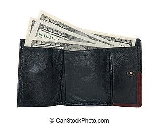 Hundred dollar bills in a wallet