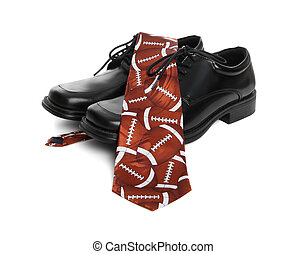 Football Tie and Shoes