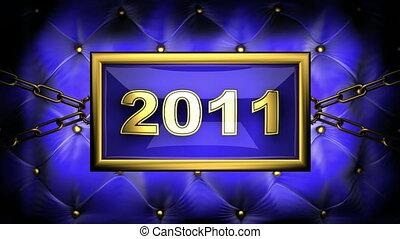 2011 on velvet background