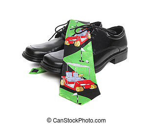 Golf Tie and Shoes