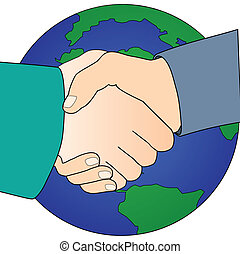 handshake for global peace