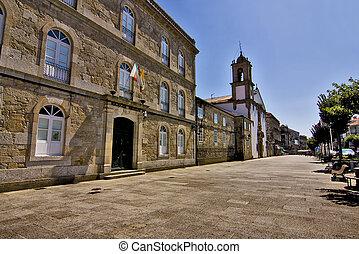 tui, pontevedra, galicia, espaa, detalles de la ciudad