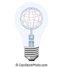 bulb and the globe