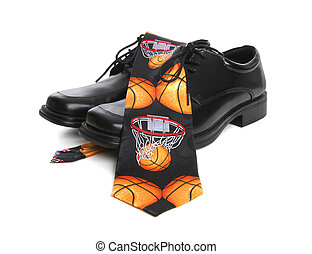 Basketball Tie and Shoes