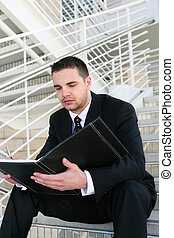Business Man Reading