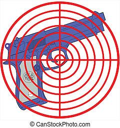 target the gun