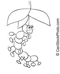 Lagarta, guarda-chuva