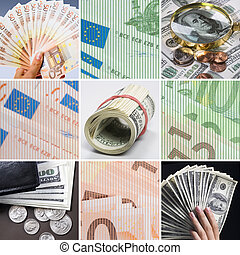 Money - Collage of different cash