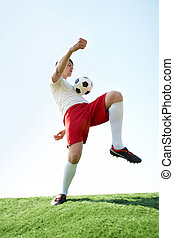 Sport game - Image of professional sportsman playing...