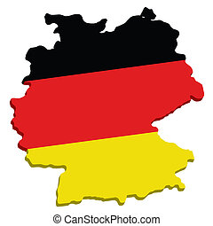 map of germany with flag in vector