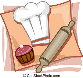Baking Icon - Illustration of Icons Representing Bakers