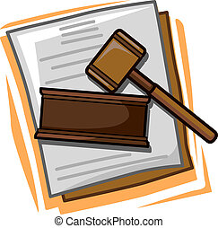 Law Icon - Illustration of Icons Representing Law