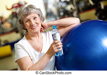 Woman refreshing