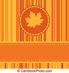 Cute autumn frame. EPS 8 vector file included