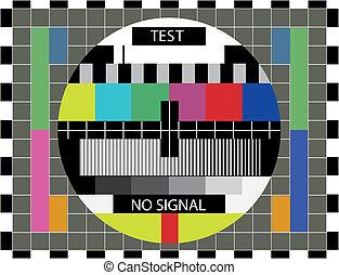 TV color test pattern - illustration