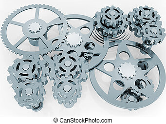 mechanism of gears - Background from the mechanism of gears...