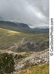 Mountain view 2 - A view of the Honister Pass in the English...