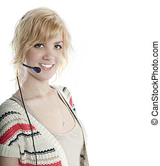 Attractive Blond Receptionist - Young, attractive blond with...