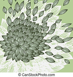 background with flower with blown petals, place for your...