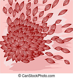 background with flower with blown petals