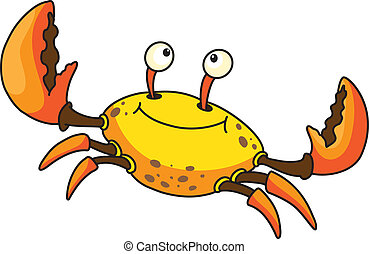 laughing crab  - illustration of a laughing crab