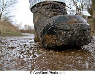 Muddy Walk - muddy boot walking