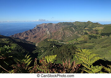 Sandy Bay on St Helena Island - Mountainous district of...