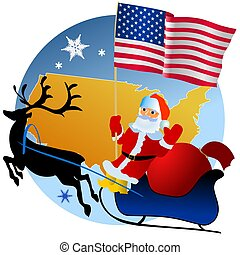 Merry Christmas, United States! - Christmas greetings with...