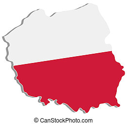 color map of poland