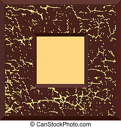 Brown vector grunge frame
