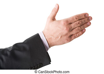 Greeting - Photo of human hand ready for a handshake